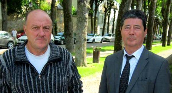 Willy Guyot, malade du plomb, aux côtés de son avocat, Patrick Derowski